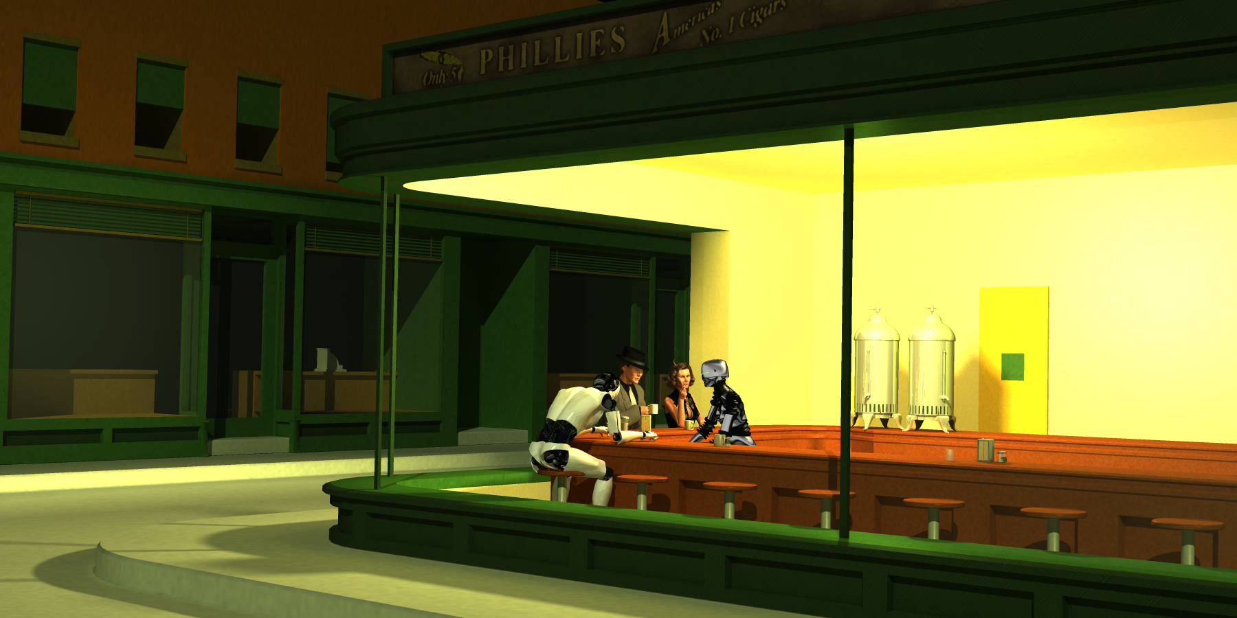 F u t u r e N o i r (Nighthawks revisited) | Blade Runner ... |Nighthawks Star Wars
